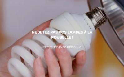 Recycler vos lampes pour éviter la prolifération de déchets